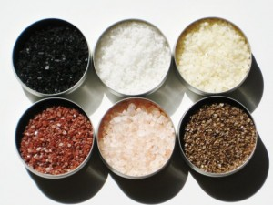 Various unrefined sea salts