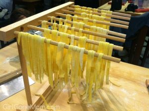 You can buy a drying rack or make your own using some wooden dowels set on anything for height
